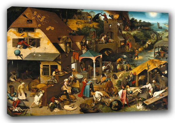 Bruegel the Elder, Pieter: Dutch Proverbs. Fine Art Canvas. Sizes: A3/A2/A1 (00413)